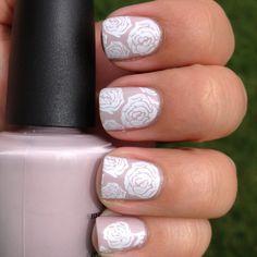 Pretty Rose Nails http://www.nailartdesignideas.com/