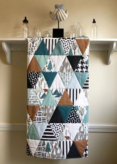 Teal Bedding, Baby Nursery Bedding, Teal Quilt, Hexagon Quilt, Nursery Rugs, White Bedding, Quilt Baby, Baby Quilts For Boys, Baby Boy Quilt Patterns
