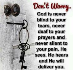 Don't worry, God says....
