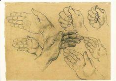Vincent Van Gogh - study of hands