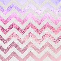 FUNKY MELON PINKBERRY Stretched Canvas  #chevron #glitter #pink #silver #ombre