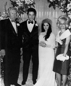 Elvis Presley and Priscilla getting married.  A George Vreeland Hill Pinterest post.