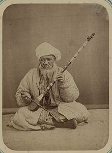 "Sato, bowed tambur,  [possibly] Samarkand. Library of Congress Archives [""Turkestan album"", 1871-1872]."