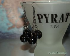 Pirate Jewelry Chain Shot Cannonball Earrings by LifeistheBubbles