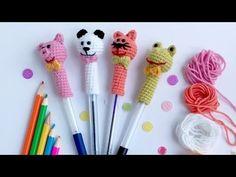 Crochet Keychain, Crochet Bookmarks, Owl Keychain, Crochet Patterns Amigurumi, Amigurumi Doll, Crochet Pencil Case, Pen Toppers, Crochet Diy, Finger Knitting
