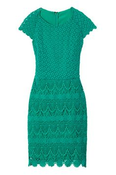 Mixing patterns isn't just for day: This number combines two lace motifs.    Editor's Tip: The stretchy material makes this dress perfect for ladies with curves.      mango.com  LOve it <3