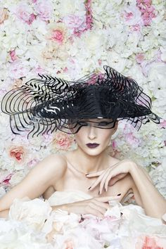 Philip Treacy London | Black Sweeping Dome | Black and Wide Brim Hats | LOVEHATS.COM