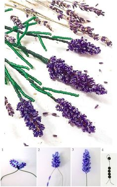 Beaded Flowers Patterns, Beaded Jewelry Patterns, Beading Patterns, Seed Bead Flowers, Wire Flowers, Seed Bead Crafts, Wire Crafts, French Beaded Flowers, Wire Trees