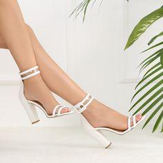 #topuklu #heels White Beige, Women's Fashion, Detail, Heels, Hot, Clothes, Heel, Outfits