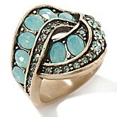 "Heidi Daus ""Hypnotic Intrigue"" Swirl Band Ring"