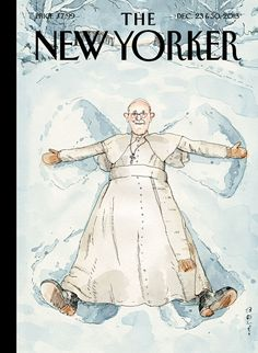 "The New Yorker ""Snow Angel"" (December 23 & 30 2013) / by Barry Blitt"