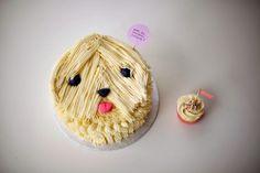 DIY Sheepdog Cake by Coco Cake Land