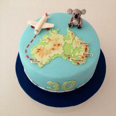 New birthday cake for boyfriend baking Ideas Themed Birthday Cakes, Themed Cakes, Fondant Cakes, Cupcake Cakes, Cupcakes, Australia Cake, Gifts Australia, Welcome Home Cakes, Australian Party