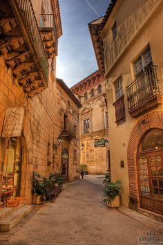 Pueblo español en Barcelo, España.