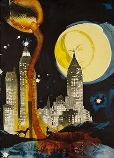 Manhattan Skyline ~ Salvador Dali