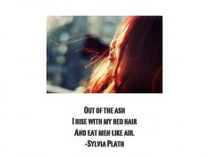 Redhead Quote ~ Created by Joannie for blog