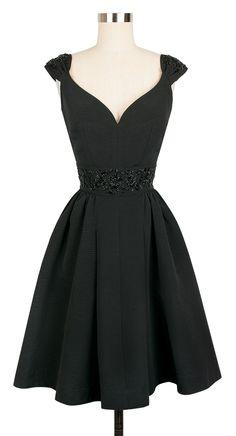 Candice Gwinn Eva Marie Dress   1950s Inspired Dress   Beaded Black Ribbed Rayon