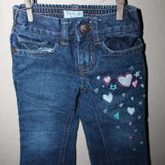 Heart jeans, Size 2