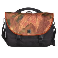 Fall Maple Leaf HDR Laptop Messenger Bag from Florals by Fred #zazzle #gift #photogift