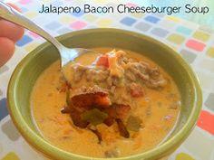 Cut the Wheat, Ditch the Sugar: Jalapeno Bacon Cheeseburger Soup