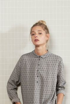 Chemise vienne marine marine - chemise femme - harris wilson 2 Pullover, Collection, Sweaters, Clothes, Style, Fashion, Dress Shirt, Outfits, Swag