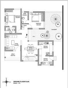 I will draw floor plans, site plan, section or elevation in autocad, #plans, #ad, #site, #draw Bungalow Floor Plans, Bungalow House Design, House Floor Plans, Indian House Plans, New House Plans, Small House Plans, Site Plan Design, Home Design Plans, Autocad