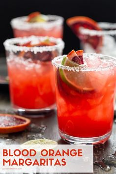 Add a colorful, seasonal spin to everyone's favorite tequila drink with this recipe for perfectly balanced Blood Orange Margaritas. Easy Alcoholic Drinks, Party Drinks Alcohol, Drinks Alcohol Recipes, Tequila Drinks, Alcohol Games, Drink Recipes, Party Recipes, Tequila Wine, Sangria Drink