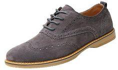 Oferta: 32.99€. Comprar Ofertas de Yaer Zapatos Brogue Oxford de Ante Hombres ((Gris EU42)) barato. ¡Mira las ofertas!