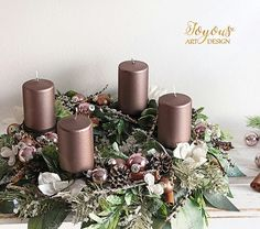Diy And Crafts, Holiday, Christmas, Table Decorations, Flowers, Home Decor, Products, Flower Arrangements, Floral Arrangements