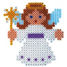 Christmas angel hama perler beads - but take out the wand Fuse Bead Patterns, Perler Patterns, Beading Patterns, Loom Patterns, Embroidery Patterns, Art Patterns, Knitting Patterns, Christmas Perler Beads, Art Perle