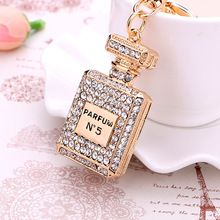 llaveros gift charm Crystal perfume bottle keychain chaveiro fashion gold-plated key chain ring holder women bag&car accessories - B E S T Online Marketplace - SaleVenue Crystal Fashion, Gold Fashion, Cheap Accessories, Jewelry Accessories, Mode Poster, Juicy Couture, Car Key Ring, Crystal Perfume Bottles, Key Chain Rings