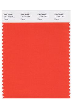 "Flame (Pantone 17-1462)A popping red always features in Pantone's spring reports — this time around, the honor goes to a warm shade aptly titled ""Flame.""  #refinery29 http://www.refinery29.com/2016/10/125109/pantone-color-trend-report-2017#slide-8"