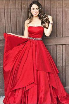 Red Prom Dresses #RedPromDresses, Custom Prom Dresses #CustomPromDresses, Prom Dresses 2019 #PromDresses2019