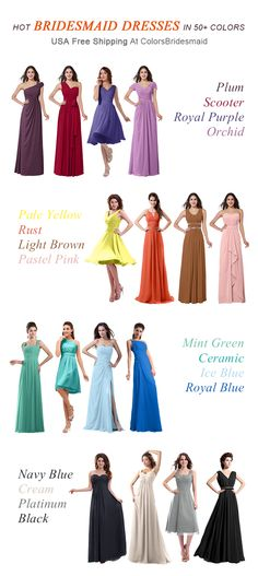 Tons of Bridesmaid Dresses in 50+ Colors. All USA Free Shipping at ColorsBridesmaid.com. Buy Now!
