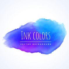 Blue watercolor paint Free Vector