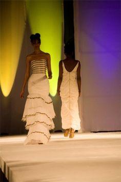Wedding dress with a bit of African trim. Sewasew designs.