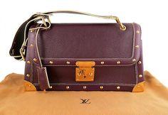 Louis Vuitton Prune Leather Suhali Le Talentueux Shoulder Bag, Rare