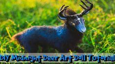 DIY Fantasy Midnight Deer Art Doll Tutorial