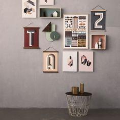 Ferm Living Cornici di legno grandi, marrone scuro | Altri oggetti d'arredo | Decorazioni | Finnish Design Shop