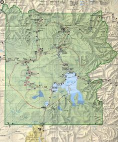 Yellowstone National Park Map So beautiful. Buy your travel gear from http://airplane-discount.com/category/travel-store/