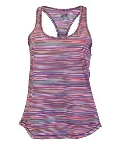 Soffe Pink Spring Space Dye Racerback Performance Tank #zulily #zulilyfinds