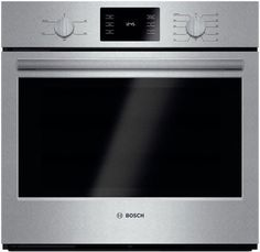 Bosch 500 Series 30 Inch Single Electric Wall Oven with Cu Ft. Capacity, Genuine European Convection, Heavy-Duty Metal Specialized Cooking Modes and Self Clean in Stainless Steel Cleaning Oven Racks, Self Cleaning Ovens, Thermal Cooking, Lac Saint Jean, Electric Wall Oven, Electric Grills, Single Wall Oven, Stainless Steel Oven, Four Micro Onde