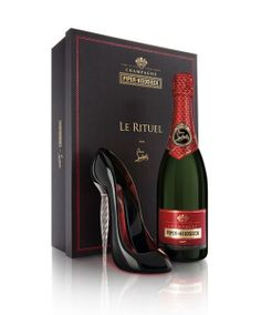 "Famed shoe designer Christian Louboutin has launched his own champagne in partnership with eccentric champagne house Piper Heidsieck. To commemorate, they have released a limited edition ""Le Rituel"" box set resurrecting a ritual of the 1880s that is emblematic of Europe at its peak: drinking from the shoe of a woman.  (Luxurate)"