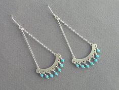 Chandelier Earrings  Turquoise Dangle by DaliaShamirJewelry $60.00