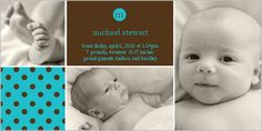 Andante Dots Cerulean Photo Card by Shutterfly. Add your baby's name and a favorite photo Birth Announcement Boy, Birth Announcements, Christening Invitations, Boy Baptism, Cerulean, Child Life, Rainbow Baby, Custom Cards, Shutterfly