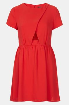 I want to see Alice in a red dress instead of a blue one. I want this because just as Little Red Riding Hood was lost and encountered other things/people along her journey, so did Alice.