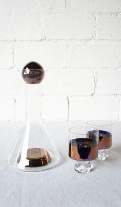 Tom Dixon decanter and glasses
