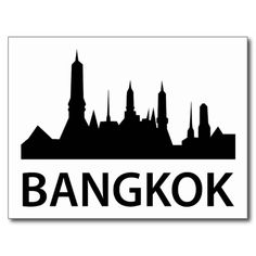 Bangkok Skyline Post Card