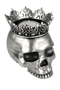 King Baby Studio: Crowned Skull Candle Holder