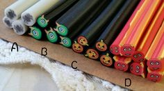 5 cm Long Polymer Clay Cane / Fimo Cane Stick / by CarmanTreasures